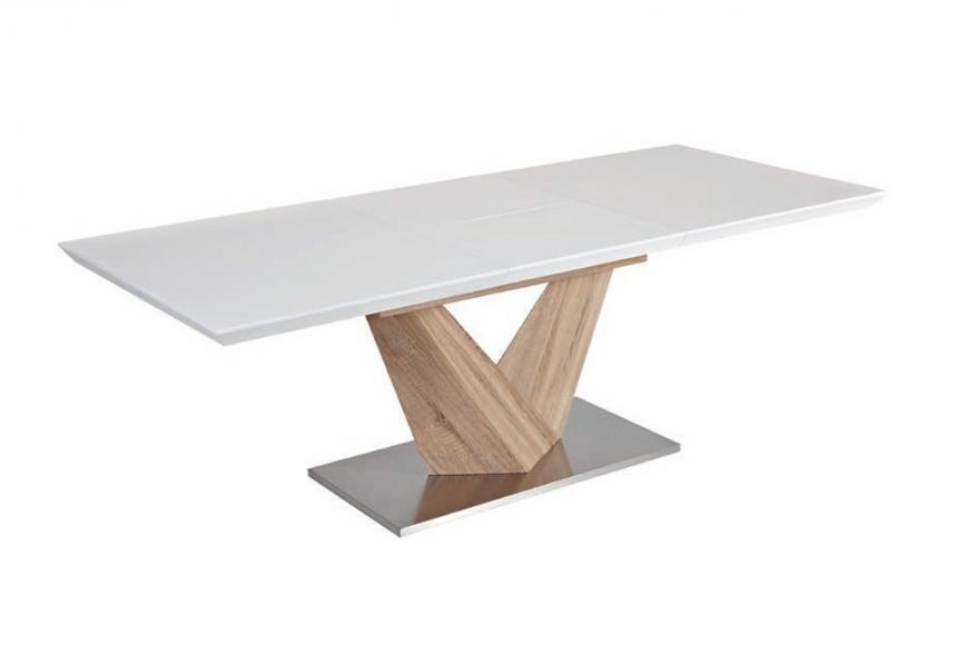 Matbord Whitewash : Matbord vit finns på pricepi med brunt