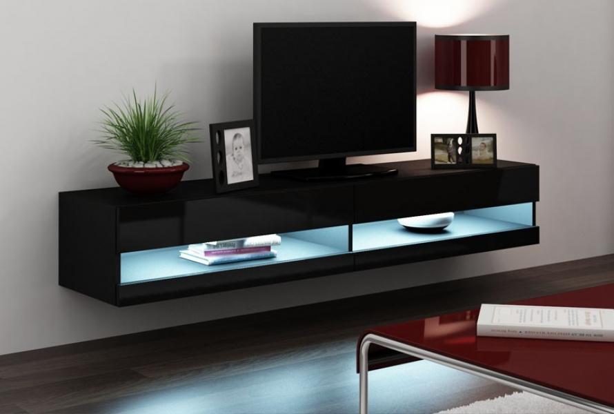 tv bänk med led belysning