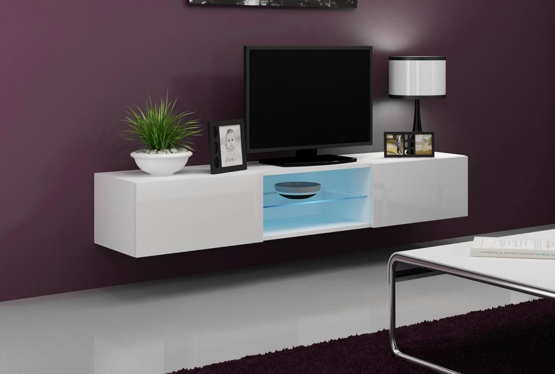 Väggmonterad TV-bänk - S Slide