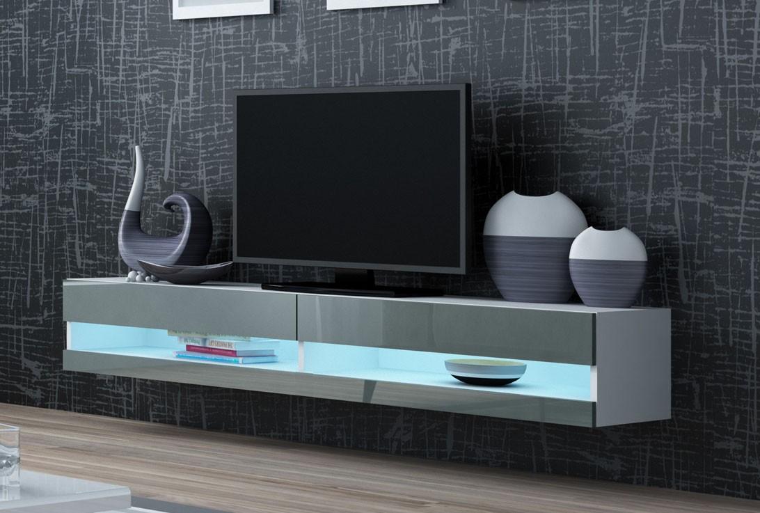 led belysning tv - Väggmonterad TV bänk X Slide