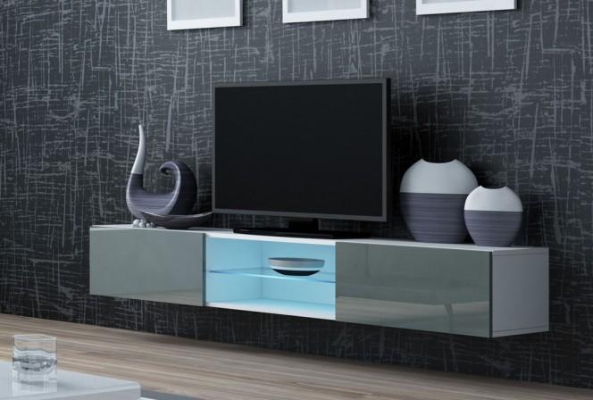 S Slide - TV-bänk LED belysning