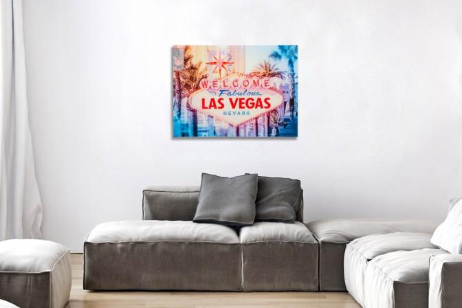 Bild Las Vegas 60x80cm Glas