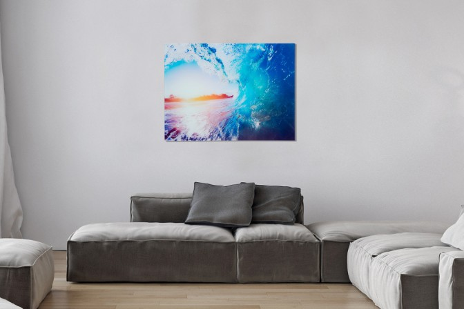 SURFERS VIEW - 60x80cm tavla i glas