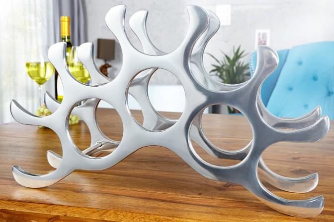 PENEDES - vinställ i aluminium för 10 flaskor