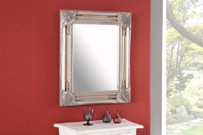 REINA - 55cm spegel i silver