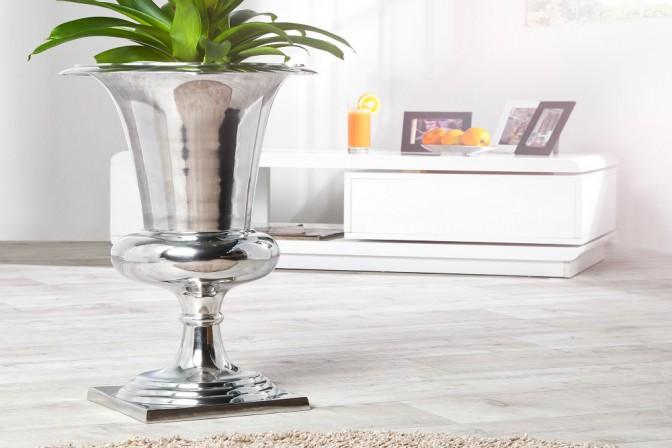 Vase Goal 60cm silber