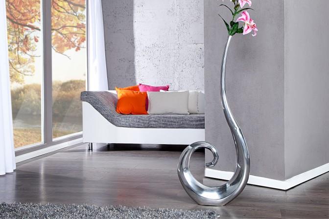 Vase Wave silber 106cm