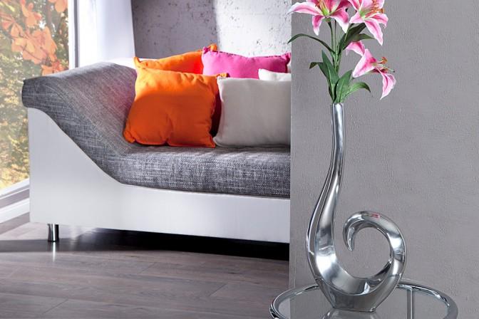 Vase Wave silber 50cm