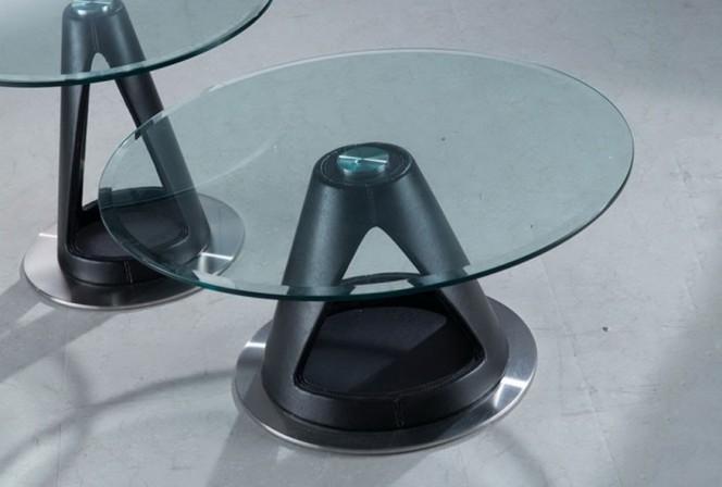 NUCLEUS - svart soffbord i bentwood