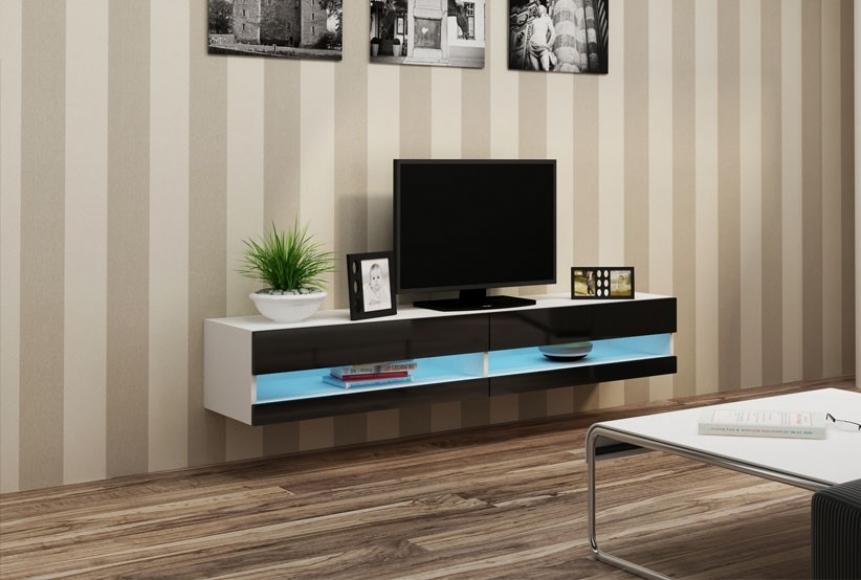Slide X - 180cm TV-bänk, LED belysning