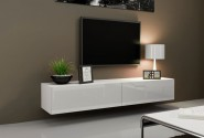 Slide V 180 - TV-bänk, matt / högblank front