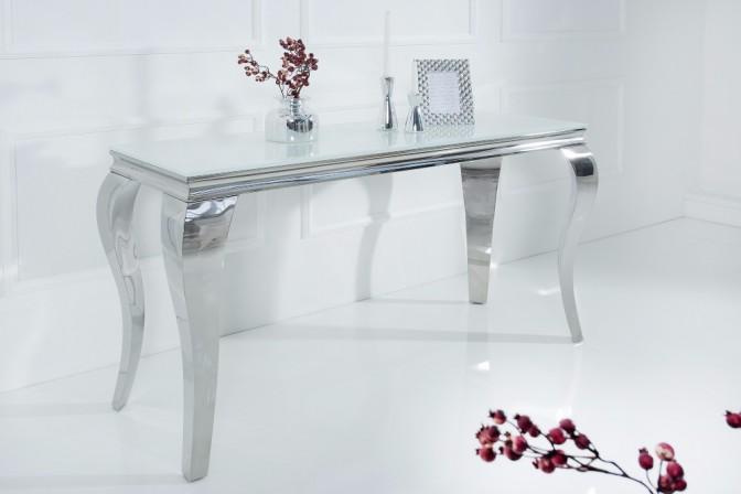 Console Modern Baroque 140cm white silver