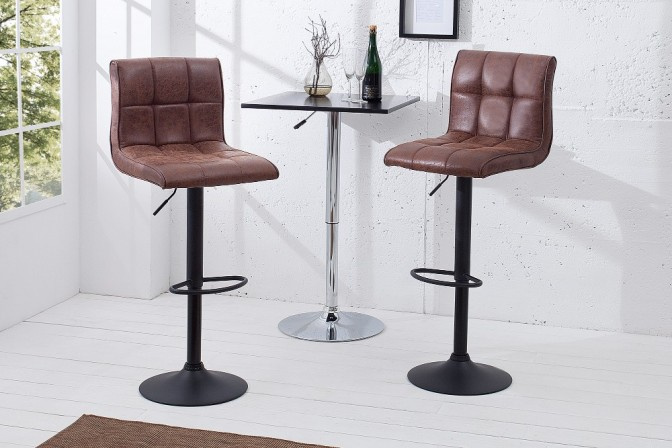 Bar stool Modena 95-115cm vintage brown