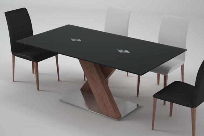 LORRAIN - glasbord, MDF / ekfaner