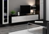 V Slide - TV-bänk, matt / högblank front