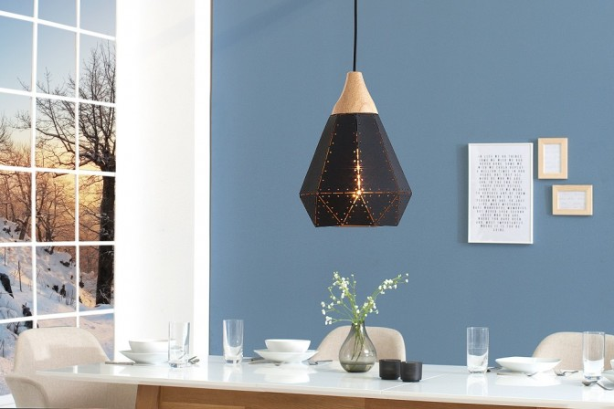 Suspension lamp Scandinavia I black