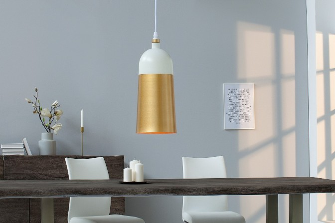 Hanging lamp Modern Chic I white gold