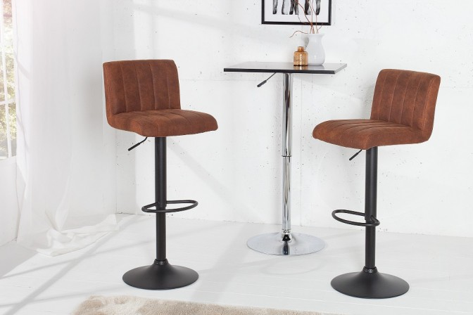 Bar stool Portland vintage brown