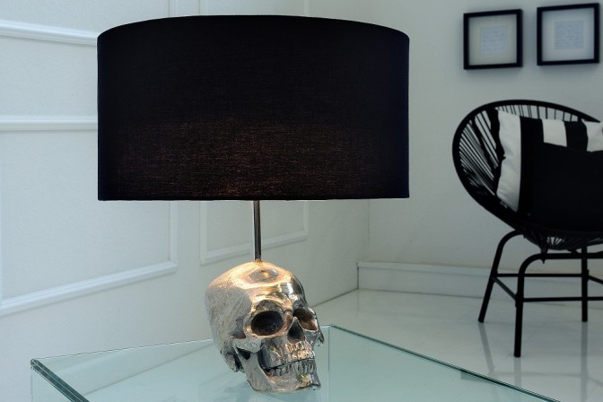 Table lamp Skull 44cm