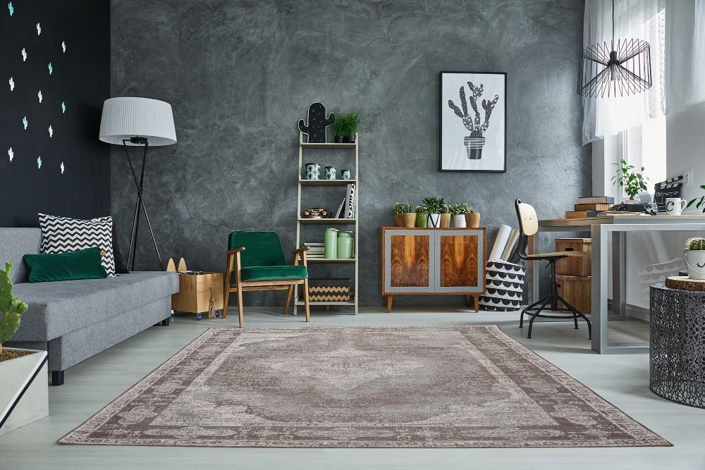 Nykomna PALMYRA - elegant matta i ljusgrå orientalisk vintagedesign IT-74