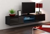 X Slide - TV-bänk LED belysning