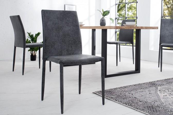 Chair Milano antique dark gray