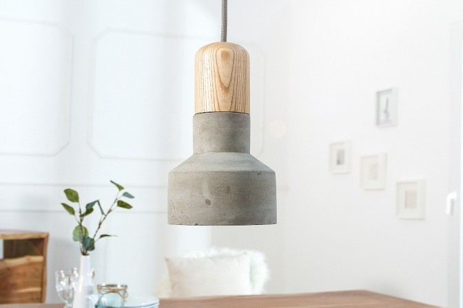 Suspension lamp Cement Fusion