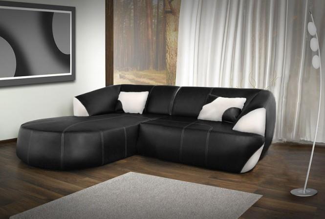 NERO - soffa med divan i ECO-läder