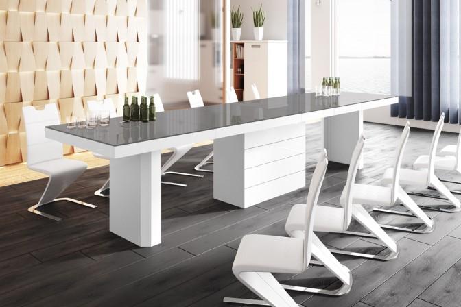 GEGANT - förlängningsbart bord, högglans