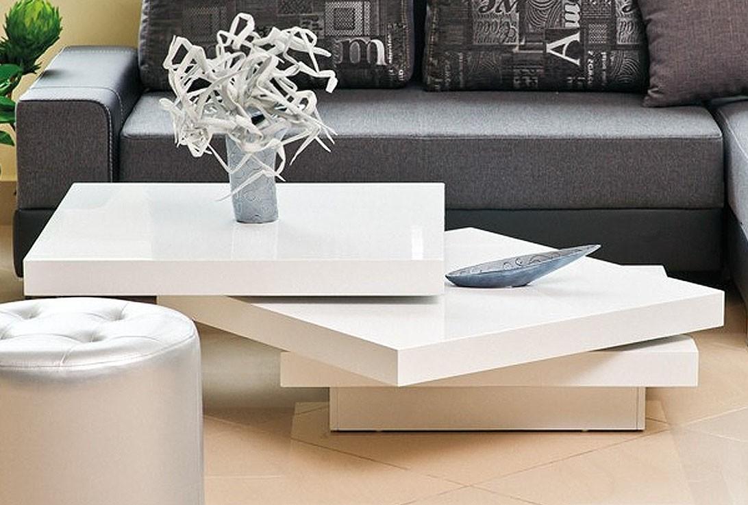 Högglans vit soffbord