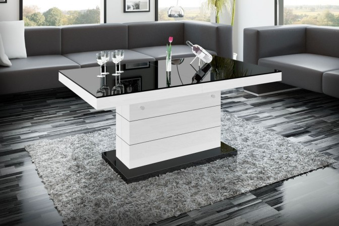 MATERA LUX bench black • white • black