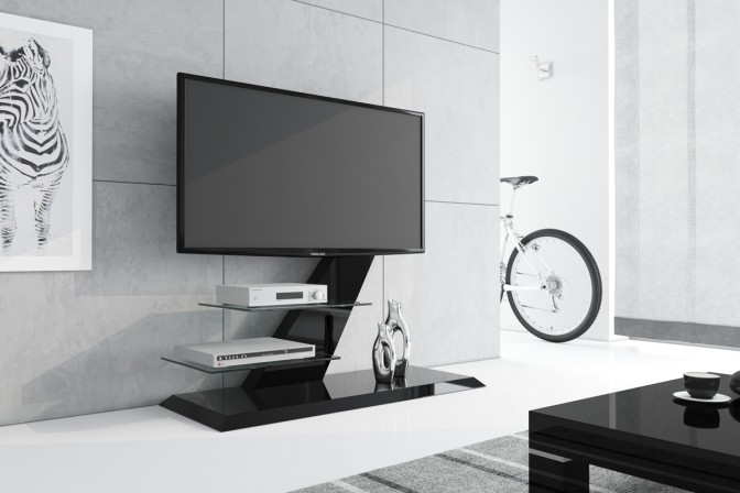 VENTO TV table, black gloss
