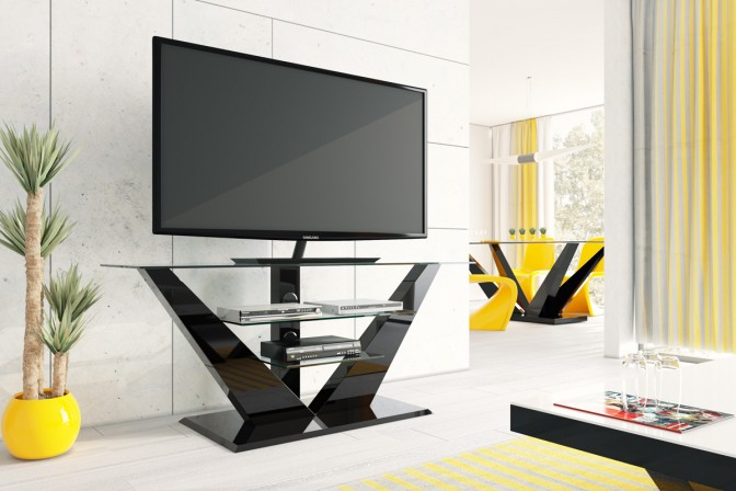 Table RTV LUNA black gloss