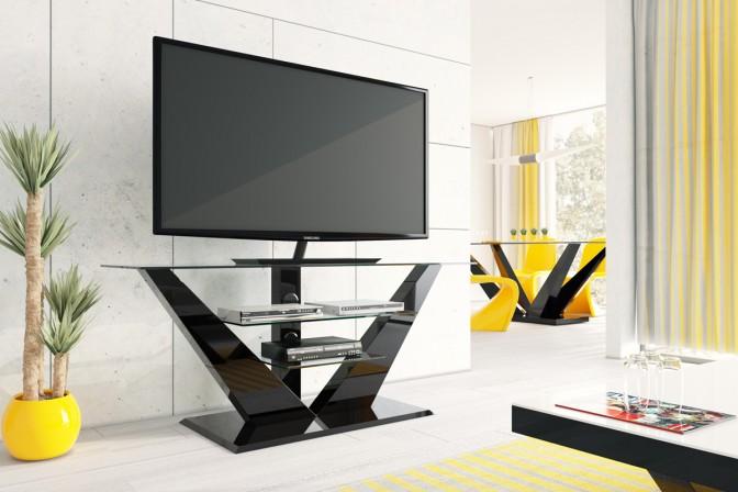MERCURY - svart TV-bord