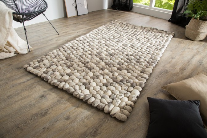 Carpet Organic 200x120cm gray felt
