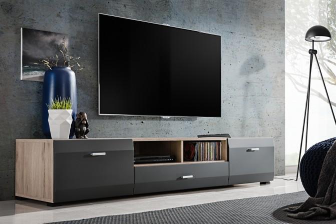 CHIAVE - 180cm TV-bänk ek/grafit