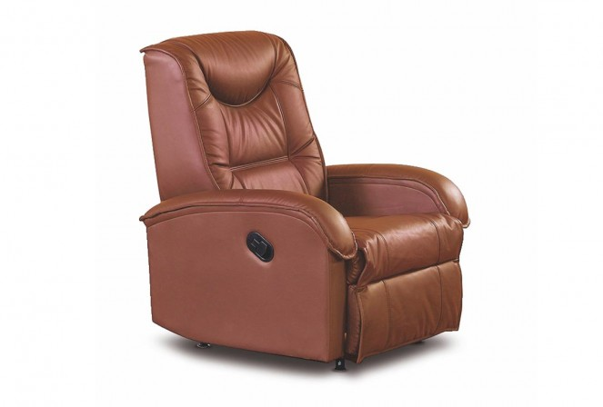 JEFF brown leather armchair