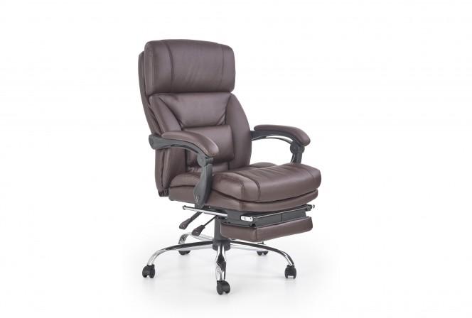 ALAN armchair with stool chocolate