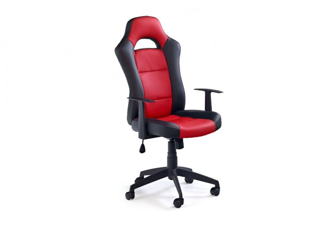 RACER 2 armchair black and red