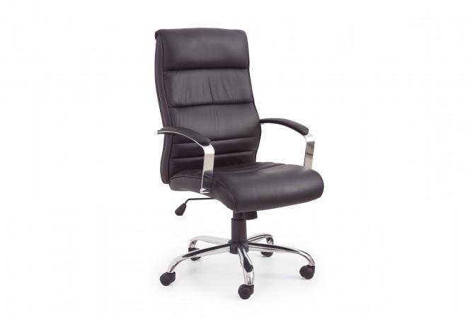 TEKSAS armchair black - leather