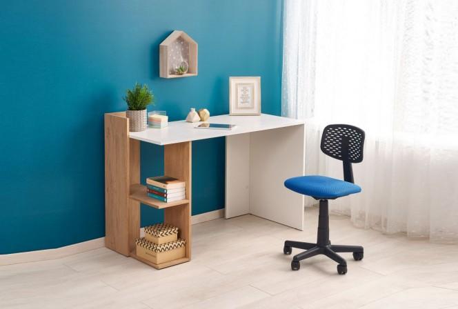 FINO desk oak gold / white