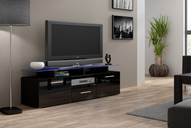 HESTON mini - TV-bänk LED belysning