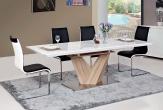 VETO - modern stol i SVART / vit PU
