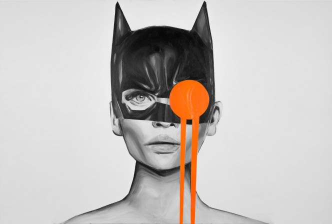 BATMAN THOUGHTS 100 × 100CM - Edyta Grzyb