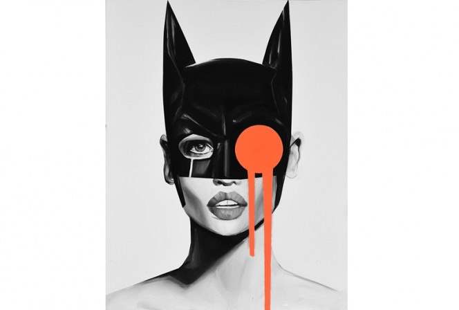 CATWOMAN THOUGHTS 70x100 / 90X120CM - Edyta Grzyb