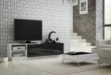 MAGIC II - TV-bänk 180, matt / högblank front