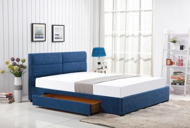 LATIFA - 160 cm blå säng