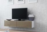 V Slide - TV-bänk 140, matt / högblank front