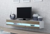 X Slide - TV-bänk LED belysning