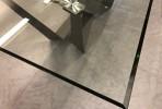 ZIMMER - 200cm MATBORD I HÄRDAT GLAS, Roséguld